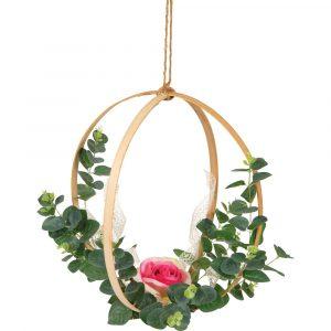 Florist Sundries and Wedding Supplies - Wooden Display Hoop Duo