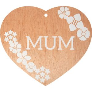 Mothers Day Florist Sundries and Decorations - Flowers For Mum Giant Wooden Heart Pendant