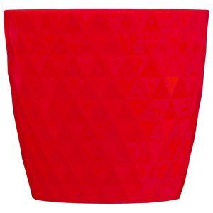 Christmas Florist Sundries and Craft Supplies - 15cm Red Matrix Impress™ Plant Pot