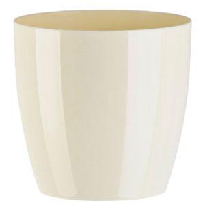 Florist Sundries and Craft Supplies - 16cm Cream Oxford Impress Plant Pot