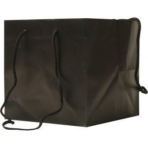 Florist Sundries & Craft Supplies - Black Cube Gift Bag