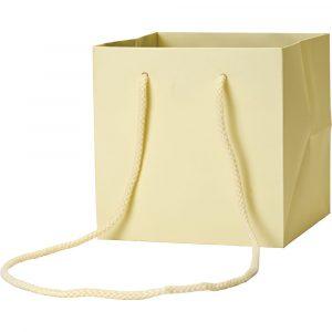 Florist Sundries & Craft Supplies - Buttercream Cube Gift Bag