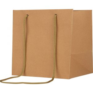 Florist Sundries & Craft Supplies - Cube Eco Kraft Gift Bag