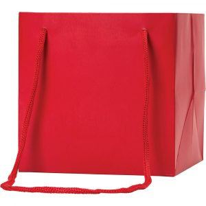 Florist Sundries & Craft Supplies - Red Cube Gift Bag