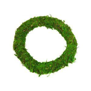 Florist Sundries - 25cm Green Moss Wreath Ring