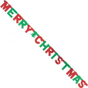 Trade Only Christmas Florist Sundries and Wholesale Supplies - 2 Merry Christmas Metallic Letter Bunting Banners