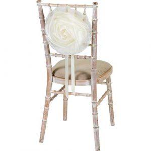 Florist Sundries and Wedding Supplies - Large Cream Organza Flower Chair Tie