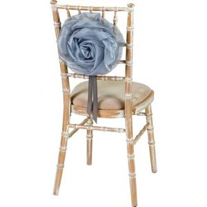 Florist Sundries and Wedding Supplies - Large Shimmering Silver Organza Flower Chair Tie