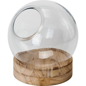 Florist Sundries and Wedding Supplies - Outlook Glass Globe Vase on Plinth