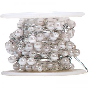 Trade Only Florist Sundries and Wholesale Supplies - White Pearls on a Reel