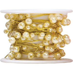 Trade Only Florist Sundries and Shop Decorations - Ivory Pearls on a Reel