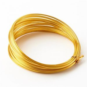 Florist Sundries and Craft Supplies - 2mm Gold Extra Thick Aluminium Wire (11.7m L)