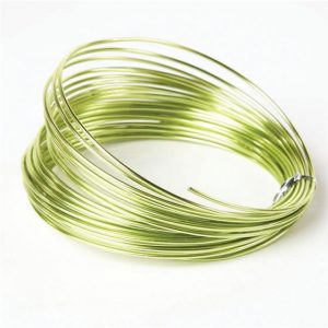 Florist Sundries and Craft Supplies - 2mm Apple Green Extra Thick Aluminium Wire (11.7m L)