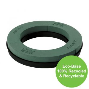 Florist Sundries and Craft Supplies - 25cm (10″) Dia OASIS® NAYLORBASE® Eco-Base Foam Ring