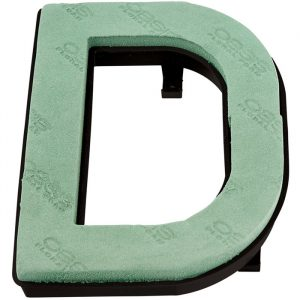 "Florist Sundries - ""D"" OASIS ® NAYLORBASE ® Quick Eco-Base Clip Letters"