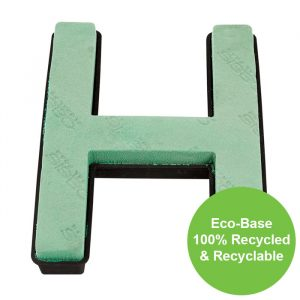 """Florist Sundries - """"H"""" OASIS ® NAYLORBASE ® Quick Eco-Base Clip Letters"""