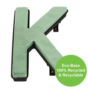 "Florist Sundries - ""K"" OASIS ® NAYLORBASE ® Quick Eco-Base Clip Letters"