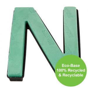 """Florist Sundries - """"N"""" OASIS ® NAYLORBASE ® Quick Eco-Base Clip Letters"""