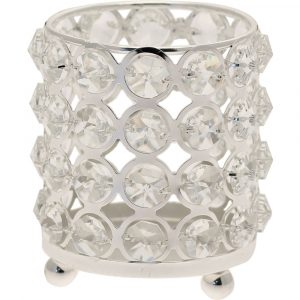 Florist Sundries and Wedding Supplies - Cristabelle Silver Cylinder Candle Holder