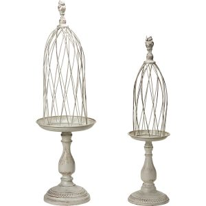 Florist Sundries and Wedding Supplies - Set of Tall Lift Off Vintage Oval Birdcages