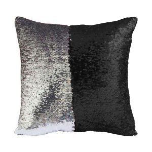 Florist Sundries and Giftware Supplies - Black & Silver Sequin Mermaid Cushion