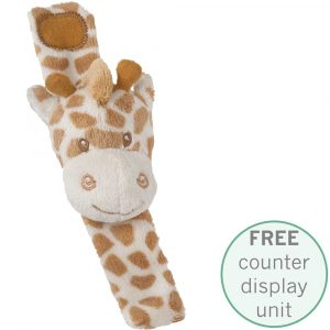Florist Sundries and Giftware Supplies - Bing Bing Giraffe Wrist Rattles with FREE Counter Display Unit