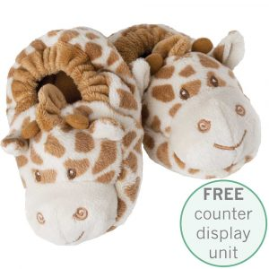 Florist Sundries and Giftware Supplies - Bing Bing Giraffe Baby Booties with FREE Counter Display Unit