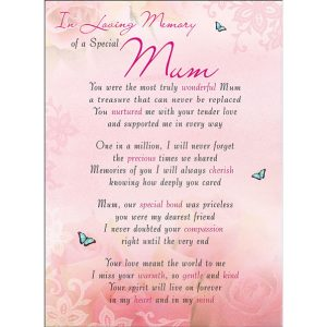 In Loving Memory of a Special Mum Memorial Card