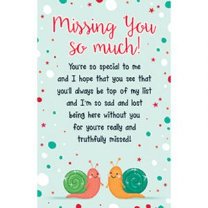 Missing You Plastic Wallet Keepsake Card