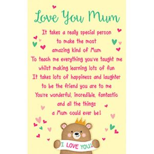 Mum Plastic Wallet Keepsake Card