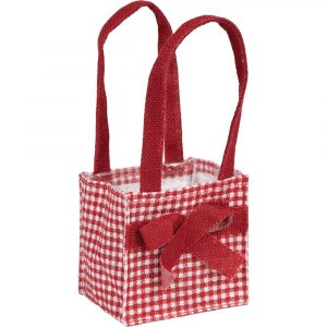 Florist Sundries and Craft Supplies - Red Dainty Bow Jute Plant Bag