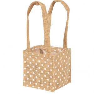 Florist Sundries and Craft Supplies - Spotty Dainty Jute Plant Bag