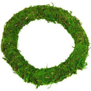 Florist Sundries - 40cm Green Moss Wreath Ring