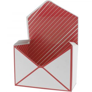 Trade Only Christmas Florist Sundries and Wholesale Supplies - Envelope Gift Box in White & Red