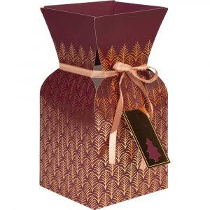 Christmas Florist Sundries and Craft Supplies - Gold & Mulberry Glamour Hand-Tied Presentation Bouquet Box