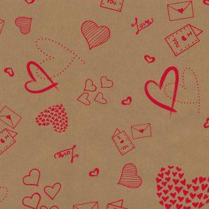 Florist Sundries and Craft Supplies - Love Doodles Kraft Paper