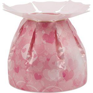 Valentine's Florist Sundries and Craft Supplies - Blushing Pink Hearts Bloomie Aqua Box