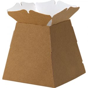 Trade Only Florist Sundries and Wholesale Supplies - Natural / Kraft Castillo Box Living Vase