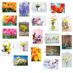 Florist Sundries and Craft Supplies - Spring 2021 Luxury Folded Message Card Selection