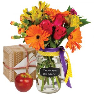 Florist Sundries and Craft Supplies - Personalisable Glass Vase with Handle