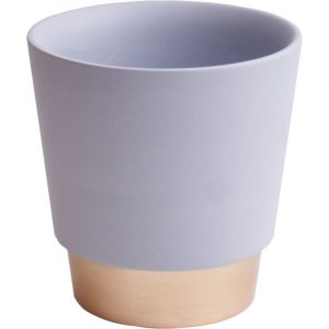 Trade Only Florist Sundries and Wholesale Supplies - Misty Grey & Gold Elegance Ceramic Plant Pot