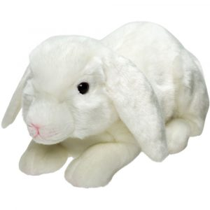 Florist Sundries and Giftware Supplies - White Lop Eared Rabbit