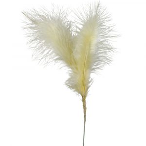 Florist Sundries and Craft Supplies - Cream Fluffy Feather Pick