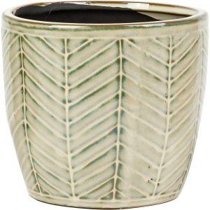 Florist Sundries and Craft Supplies - Thrive Grey/Green Ceramic Plant Pot