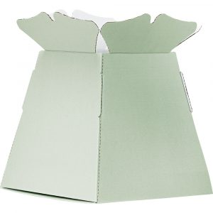 Trade Only Florist Sundries and Wholesale Supplies - Mint Green Castillo Box Living Vase