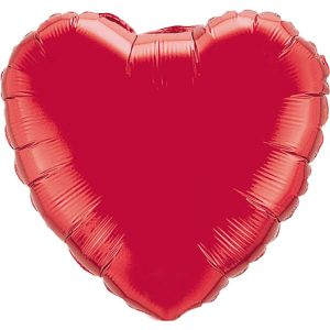 Valentines Florist Sundries and Decorations -Red Heart Foil Helium Balloon