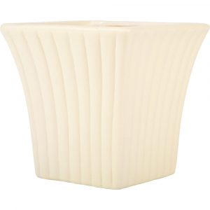 Trade Only Christmas Florist Sundries and Wholesale Supplies - Cream Curved Fanfare Plant Pot Vase