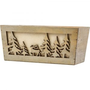 Trade Only Christmas Florist Sundries and Wholesale Supplies - Winterland Wooden Planter