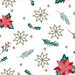 Trade Only Christmas Florist Sundries and Wholesale Supplies - Poinsettia Perfection Luxury Tissue Paper
