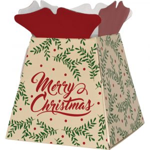 """Trade Only Christmas Florist Sundries and Wholesale Supplies - """"Merry Christmas"""" Wishes Castillo Box Living Vase"""